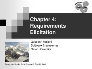 Chapter 4: Requirements Elicitation