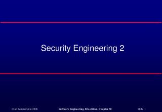 Security Engineering 2