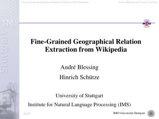 Fine-Grained Geographical Relation Extraction from Wikipedia