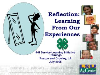 Reflection: Learning From Our Experiences