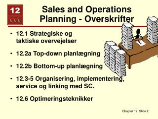 Sales and Operations Planning - Overskrifter