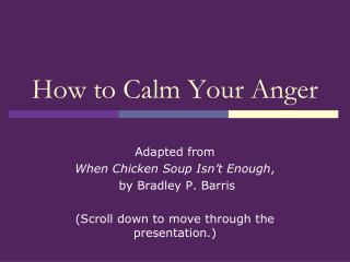 How to Calm Your Anger