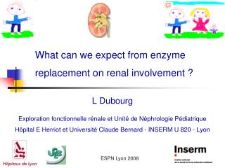 What can we expect from enzyme replacement on renal involvement ?