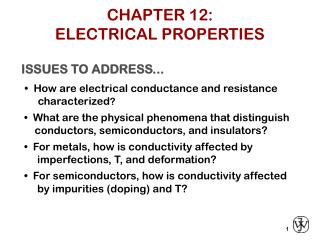 CHAPTER 12: ELECTRICAL PROPERTIES