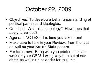 October 22, 2009