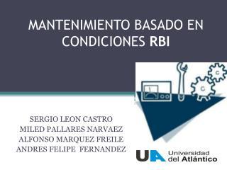 MANTENIMIENTO BASADO EN CONDICIONES RBI