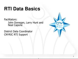 RTI Data Basics Facilitators:   	John Donegan, Larry Hunt and Neal Capone