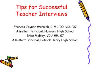 Tips for Successful Teacher Interviews