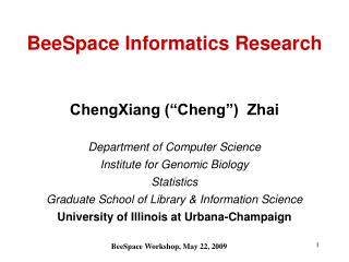 BeeSpace Informatics Research