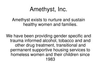 Amethyst, Inc.