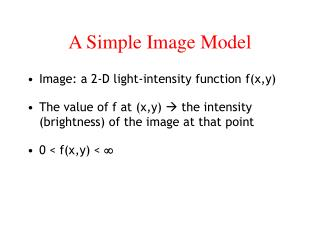 A Simple Image Model