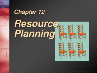 Chapter 12 Resource Planning