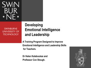 Developing Emotional Intelligence  and Leadership