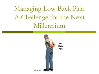 Managing Low Back Pain  A Challenge for the Next Millennium