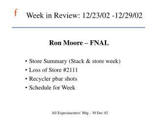 Week in Review: 12/23/02 -12/29/02
