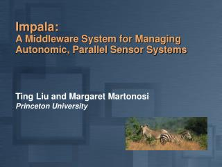 Impala: A Middleware System for Managing Autonomic, Parallel Sensor Systems