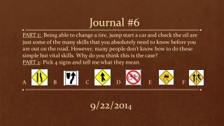 Journal #6