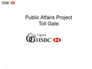 Public Affairs Project Toll Gate
