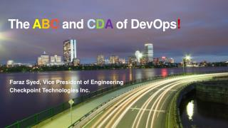 The  A B C  and  C D A  of DevOps !