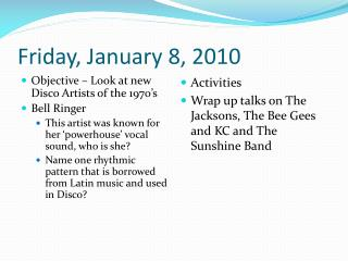 Friday, January 8, 2010