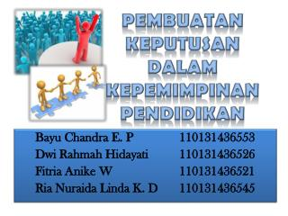 Bayu Chandra E. P 110131436553 Dwi Rahmah Hidayati 110131436526