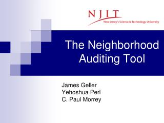 The Neighborhood Auditing Tool