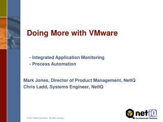 Doing More with VMware