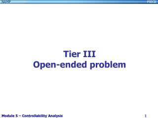 Tier III Open-ended problem