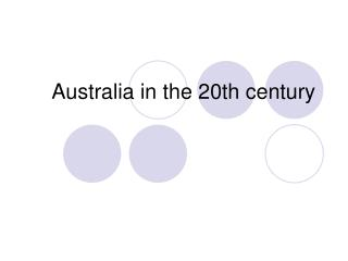 Australia in the 20th century