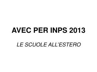 AVEC PER INPS 2013