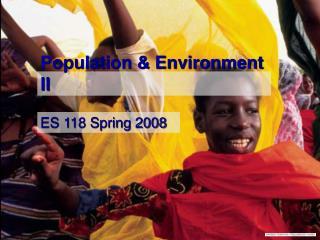 Population & Environment II