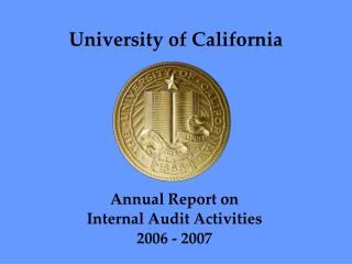 Annual Report on  Internal Audit Activities 2006 - 2007