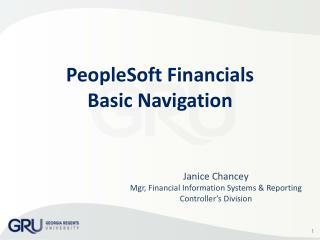 PeopleSoft Financials Basic Navigation
