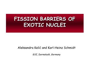FISSION BARRIERS OF EXOTIC NUCLEI