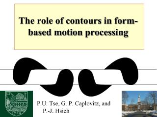 The role of contours in form-based motion processing