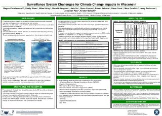 Surveillance System Challenges for Climate Change Impacts in Wisconsin