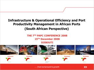 Infrastructure & Operational Efficiency and Port Productivity Management in African Ports
