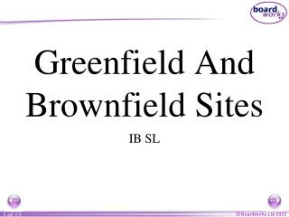 Greenfield And Brownfield Sites