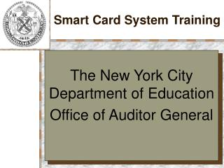 Smart Card System Training