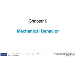 Chapter 6 Mechanical Behavior