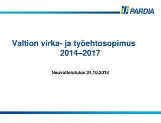 Valtion virka- ja työehtosopimus 2014–2017