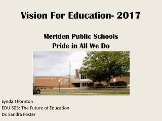 Vision For Education- 2017
