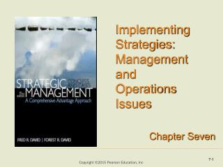 Implementing Strategies: Management and Operations Issues