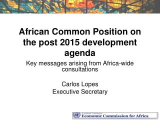 African Common Position on the post 2015 development agenda