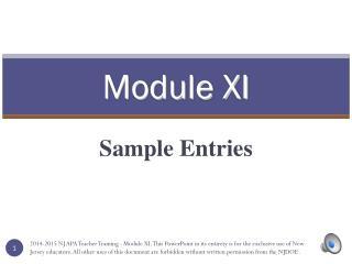 Module XI