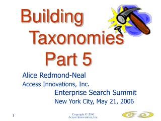Building 			Taxonomies 		Part 5