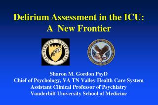 Sharon M. Gordon PsyD Chief of Psychology, VA TN Valley Health Care System