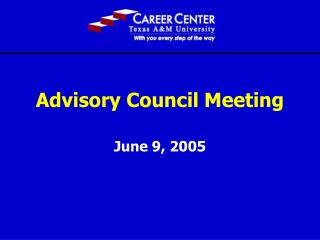 Advisory Council Meeting