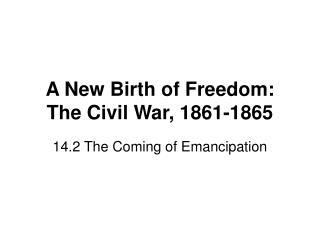 A New Birth of Freedom: The Civil War, 1861-1865