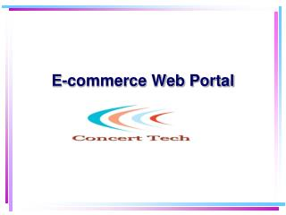 E-commerce Web Portal
